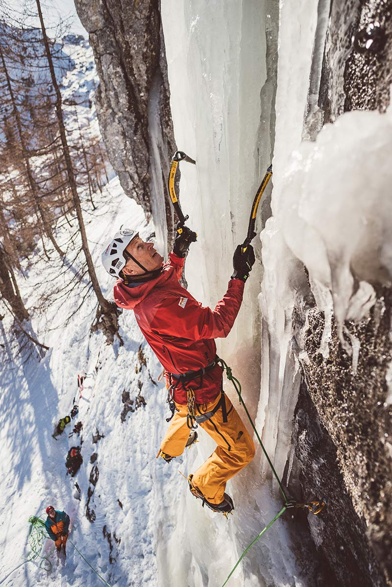Heli Putz mountain guide - ice climbing